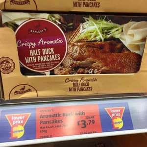Aldi Aromatic Crispy Duck with Pancakes and Hoisin Sauce reduced to £3.79