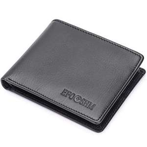 EFOSHM Black Genuine Men's Leather Wallet @ Amazon with £15.99 (PRIME) £19.98 (Non Prime)