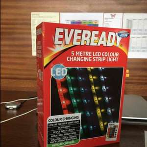 Eveready 5 metre LED colour changing strip light £19.99 B&M