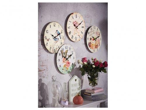 Auriol Vintage Wall Clock 4 Designs £3.99 @ Lidl from 19th feb