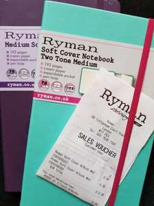 Ryman Soft Cover Notebooks BOGOF mix and match sizes - £6.99