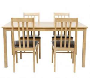 4 dining chairs and dining table all for £159.20 @ tesco direct