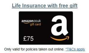 £75 Amazon Gift voucher for taking out LV life insurance (minimum £5  a month) Card is sent out after 5 months of premiums paid
