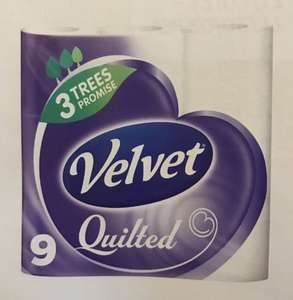 Velvet Quilted Toilet Rolls 5 x 9 Packs (45 Rolls) £10.78 @ Costco