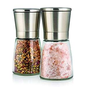 Elegant Salt and Pepper Grinder Set with Matching Stand £10.95 prime / £15.70 non prime Sold by Twinz Products and Fulfilled by Amazon