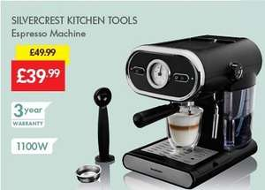 Espresso Machine 3999 Was 4999 Lidl Silvercrest