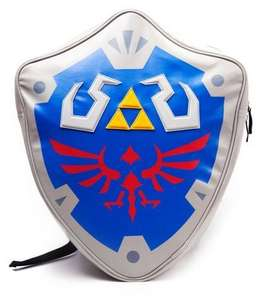 Zelda: Silver/Blue Hylian Shield Backpack / Sony Playstation One Console Messenger Bag £9.99 Instore @ MenKind