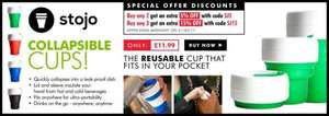 Stojo reusable cups only £11.99 from MemoryBits