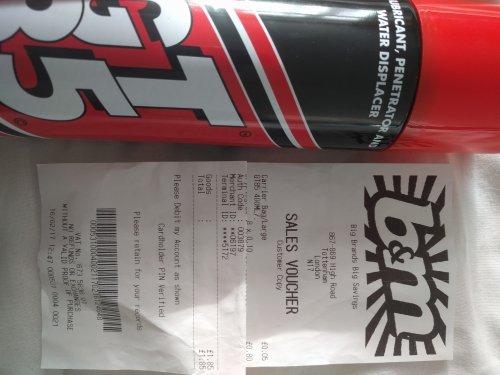 GT85 spray - 10p instore only @ B&M