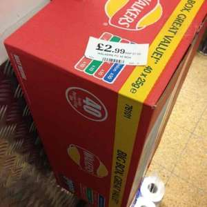 Walkers 40 box variety only £2.99 at Home Bargains