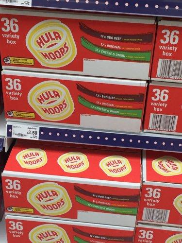 Hula Hoops box of 36 £3.50 @ Asda