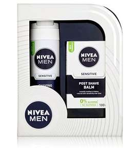 NIVEA MEN SHAVE GIFT SET SHAVING GEL & POST SHAVE BALM for £ 2.50 (Was £10) at Sainsbury's Instore