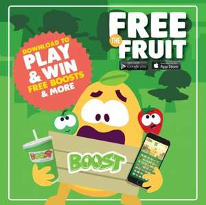 Download Free the Fruit game and win vouchers and freebies from Boost Juice Bars