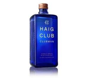 Haig Club Clubman single grain Whisky 70cl £15 Asda