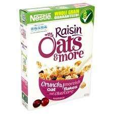 Nestle Oats & More Raisins 425g for 63p in sainsburys colchester town
