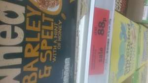 Nestle Shredded Wheat with barley & spelt 475g for 88p while stock lasts sainsburys colchester town