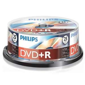 Blank Media Clearance  - Philips DVD+R. &   Philips DVD-R. Inkjet printable. (25 packs) - Reduced To Clear -  Just £2.99 Each INSTORE  @ B & M Stores