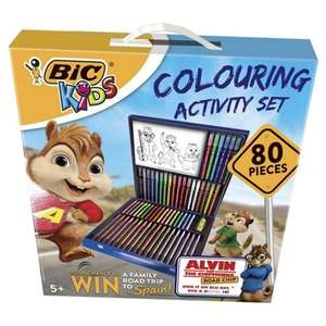 Bic Kids Colouring Activity Set 80 Pieces - £8 @ Tesco direct (C&C)