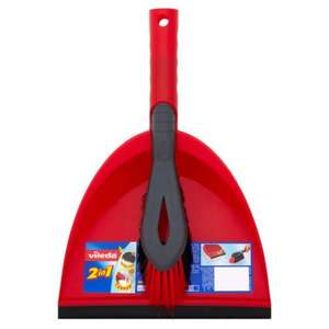Vileda Red Dustpan and Brush Set Was £5 Now £2 instore / online @ Morrisons