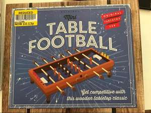 mini wooden table football reduced to 13p @ Tesco