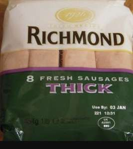 Richmond 8 thick sausages 75p instore @ Iceland