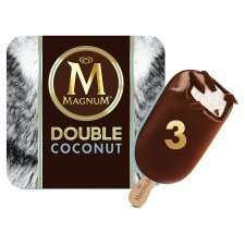 Magnum Double Coconut Ice Cream 3 x 88 ml reduced from £3 to £2 at Tesco