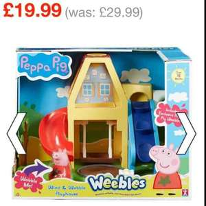 Peppa Pig Weeble Wind & Wobble Playhouse £19.99 @ Smyths toys