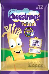 Cheestrings Original or Twisted (12 x 20g) was £3.50 now £2.00 (Rollback Deal) @ Asda