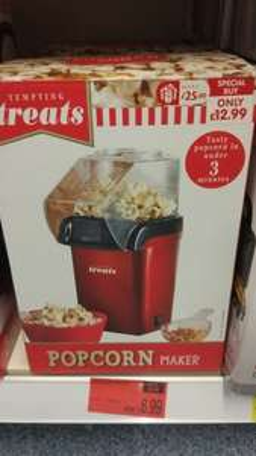 Tempting Treats Popcorn maker £6.99 @ B&M