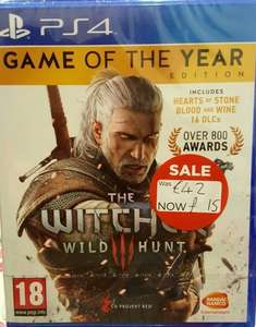 The Witcher 3: Wild Hunt GOTY (PS4) Only £15 Instore @ Asda