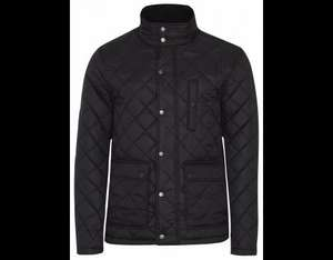 Quilted Shower Resistant Coat - Black £15 @ George / Asda