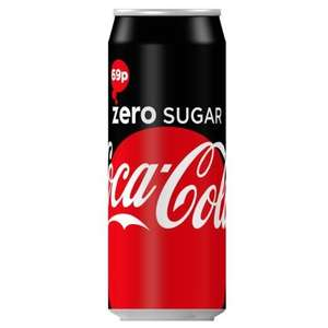 Coke Zero (500ml Can) 39p @ B&M