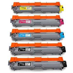 JARBO 5 Packs (2 Black,1 Cyan,1 Magenta,1 Yellow) Compatible Brother TN241 TN245 Toner Cartridges for Brother HL-3140CW HL-3142CW HL-3150CDW HL-3152CDW HL-3170CDW HL-3172CDW MFC-9130CW MFC-9140CDN MFC-9340CDW MFC-9330CDW DCP-9020CDW - £27.99 @ Amazon
