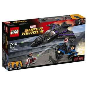LEGO Super Heroes - Black Panther Pursuit - 76047 now £20 C+C @ Asda George