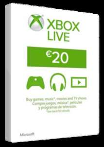XBOX Live 20 EURO Card - £14.42 @ SCDKey (Can only be used in Euro currency countries)