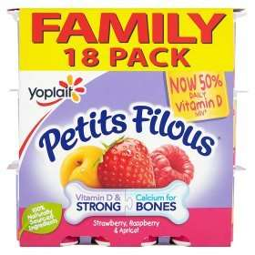 Family Pack Petits Filous Apricot, Strawberry & Raspberry Yogurts (18 x 47g) was £3.00 now£2.00 (Rollback Deal) @ Asda