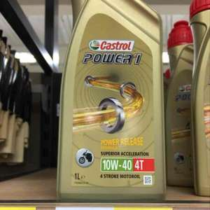 Castrol motorcycle engine oil £3 instore @ Tesco (£12 RRP)