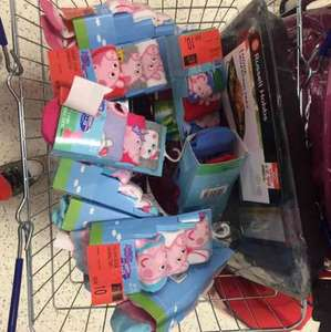 peppa pig socks 10p instore at b&m