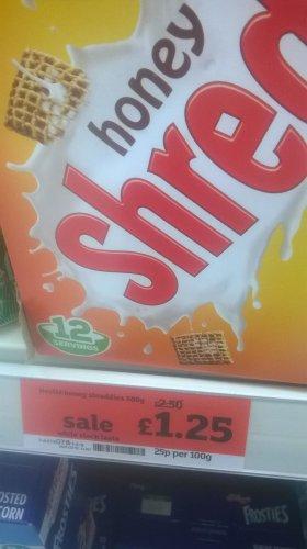 Nestle Honey Shreddies 500g £1.25 in sainsburys priory walk colchester