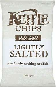 Kettle Chips lightly salted  300g bag £1 @ Poundland