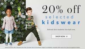 asda george 20% off selected kidswear - Online offer