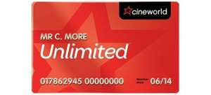 Cineworld Unlimited Card £142.02 Via Kids Pass £1 (100 Day Trial)
