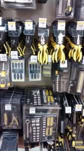 Selected Tesco Hand Tools Reduced Instore, Screwdrivers 25p. Metal/wood Files 25p, Magnetic Bit Set 25p, Pliers 50p, Side Cutters £1.00 Saws 1.00,