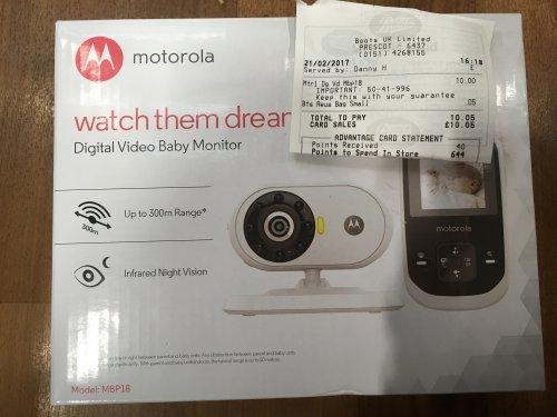 Motorola MBP18 Video baby monitor £10 @ Boots - Prescot
