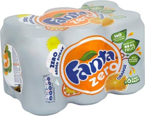 Fanta Orange Zero (8 x 330ml) / Fanta Fruit Twist Zero (8 x 330ml) was £4.20 now £2.00 (25p a can) (Rollback Deal) @ Asda