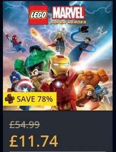 PS4/PSN Lego Marvel Super Heroes PlayStation Plus Membership needed- HOT price £11.74 amazing game
