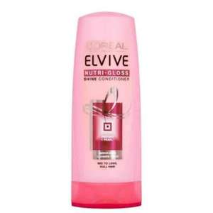 L'Oreal Elvive Nutri Gloss Conditioner 400ml Pack of 6 amazon s&s £3.79 Add On