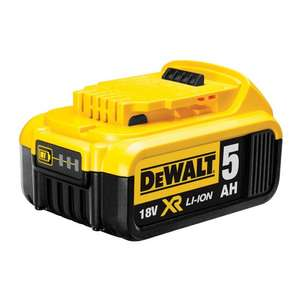 Dewalt DCB184 18V XR li-ion Battery 5Ah £75.00 @ Toolstop