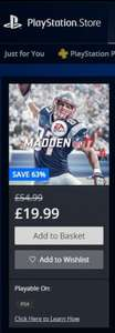 Madden 17 PS4 £19.99 Playstation Store