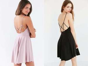 Urban Outfitters Skater Dress, Peach or Black, Now £3, C&C
